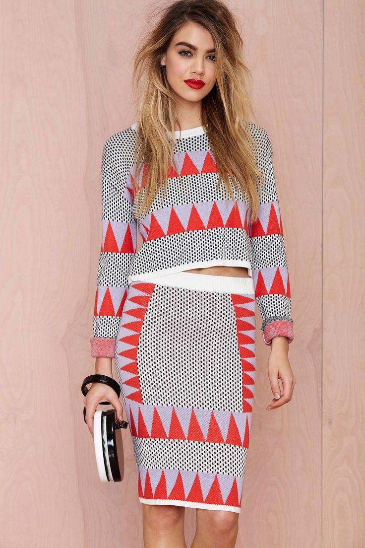 Tri Tri Again Sweater Skirt