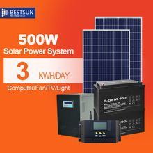 500w solar panel system off grid complete home solar system with battery panneau solaire 12v lcd Controller kit solar 220v(China (Mainland))