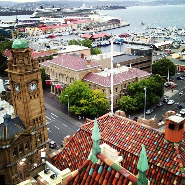 A rooftop view of Hobart. #tasmania #hobart #discovertasmania Image Credit: Julia Smith
