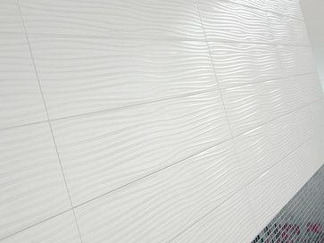 Dune Usa Modern Tile Bathroom Shower Walls In Wavy Texture White Tiles