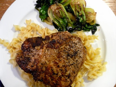 ... » Pork chop with herbs de Provence and a marsala-balsamic sauce