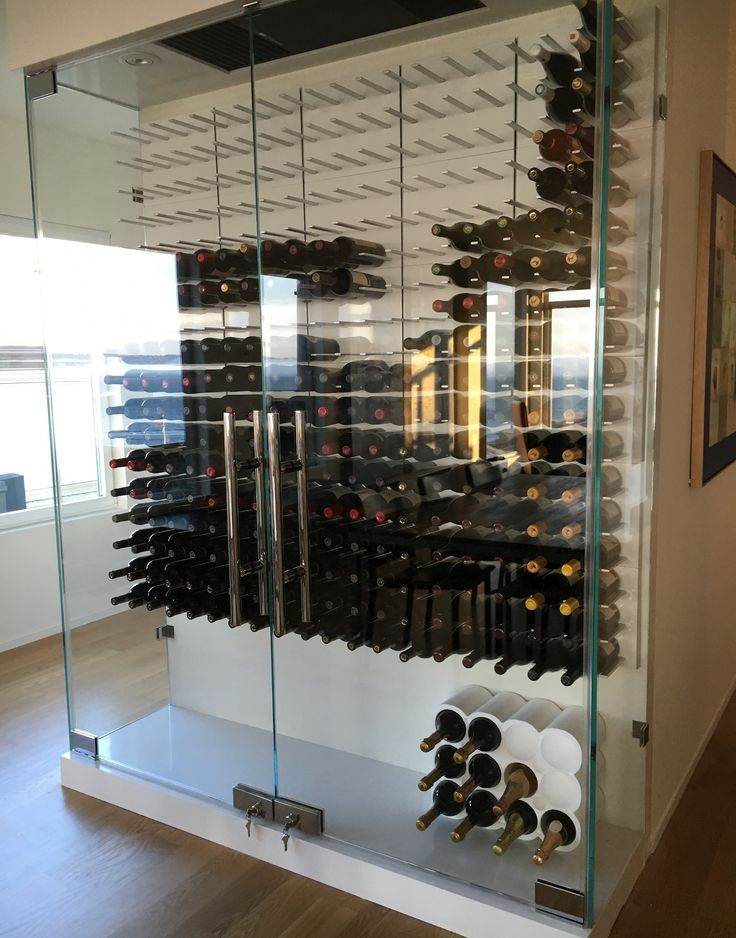 Best 25 glass wine cellar ideas on pinterest contemporary cooling racks modern wine rack and Wine racks for small spaces pict