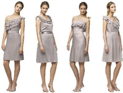 purple/silver bridesmaid dresses