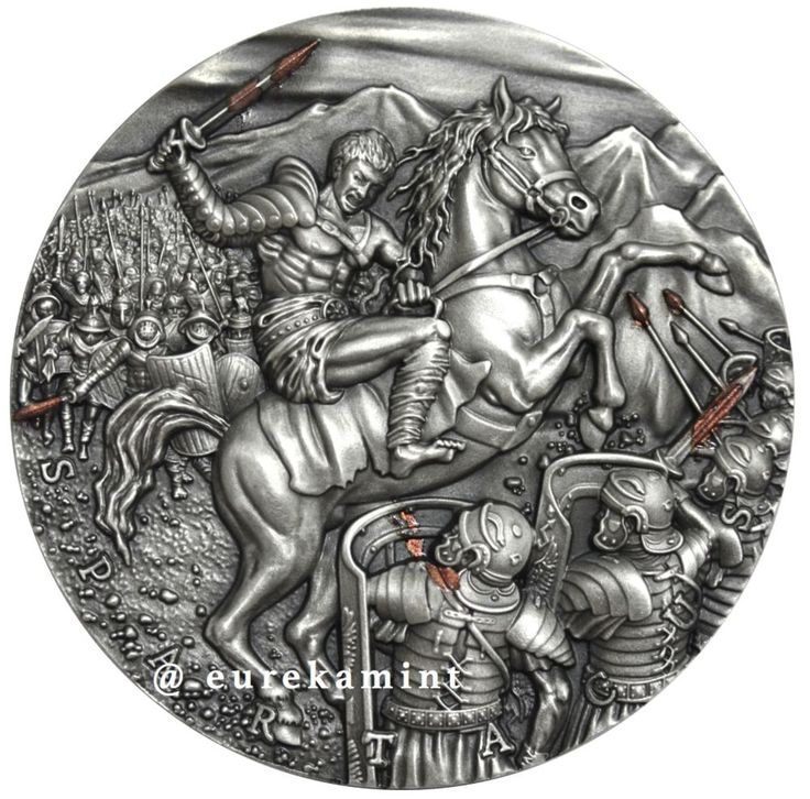 SPARTACUS 2 OZ ULTRA HIGH RELIEF silver coin Niue 2017