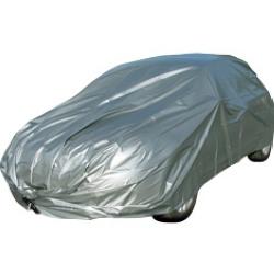 Auto-moto : Housses : Housse spéciale voiture disponible en 3 tailles de 3,58 à 4,51 M. Imperméable, en polyéthylène avec crochets élastiques de fixation. Prix bas sur les produits de bache, picine, meuble,