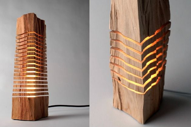 Split Grain Wooden Sculptures