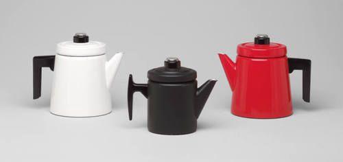 Enamel Coffeepots, Antti Nurmesniemi,  Arabia Finel, Finland, 1957