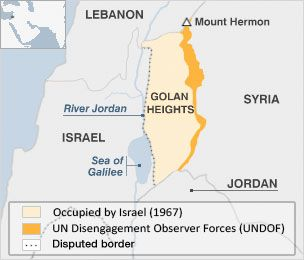 May 21, 2013 - ARTICLE - MAP - INFOGRAPHIC - ISRAEL - GOLAN HEIGHTS - UNDOF - VIOLENCE - OCCUPATION - Israeli and Syrian forces have exchanged fire across the ceasefire line in the occupied Golan Heights.