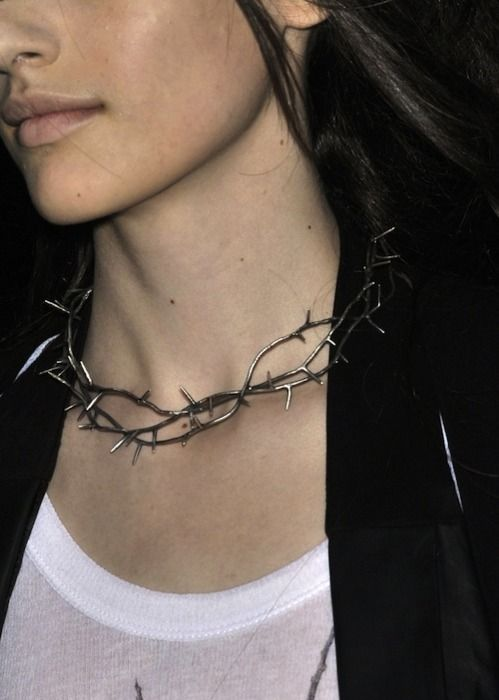 Thorn necklace #extreme #adornments #spikes #jewellery #style: Fashion, Ann Demeulemeester, Style, Thorns Necklace, Thorn Necklace, Jewelry, Necklaces, Accessories, Photo