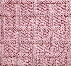 Lattice con la puntada de semillas - patrón de tejer Square | combinaciones de punto y Purl