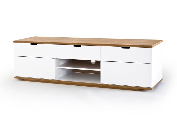 BARI Mediabänk 160 Vit/Ek i gruppen Inomhus / Förvaring / ALL FÖRVARING hos Furniturebox (100-13-16228) ($403)