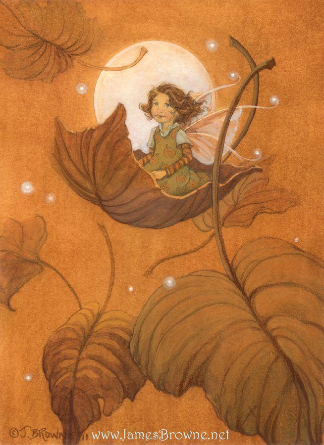 Autumn Fairy- FAIRYLAND ART BY JAMES BROWNE jj