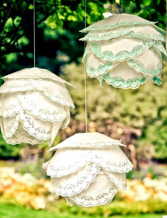 Hermosas ideas con blondas de papel