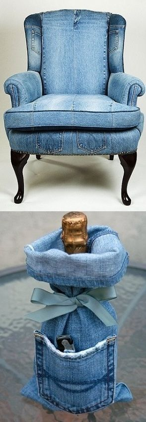 Amazing Way to Reuse Denim – Jeans Upholstery