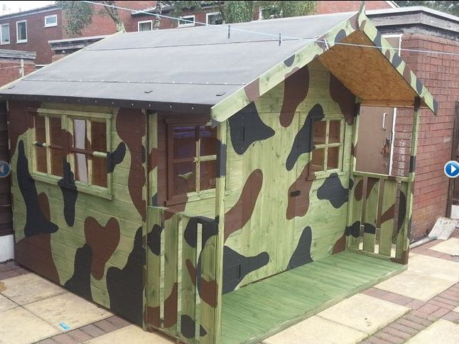 Army Shed Playhouses Pinterest Army And Playhouses