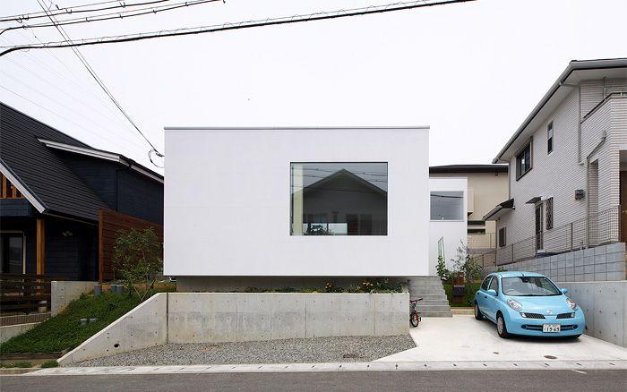 はつが野の家 5つの箱と5つの庭の家 外観
