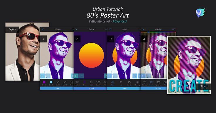 80's Poster Art Tutorial   Enlight Leak