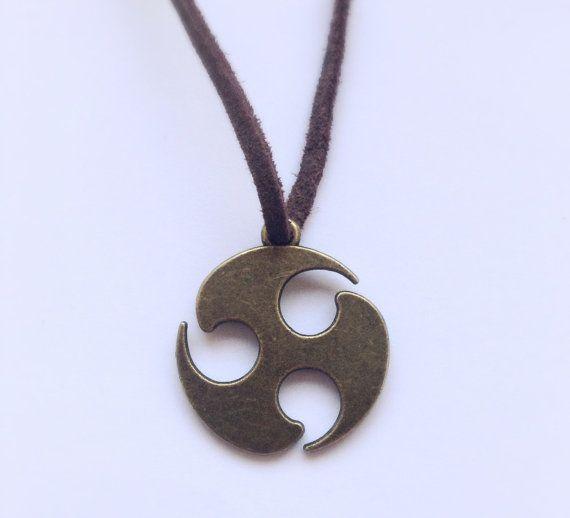 Open+Circle+Leather+Pendant+Eternal+Love+Pendant+by+DanusHandmade