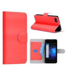Forro BlackBerry Z10 Tipo Libro - Rojo  Bs.F. 109,25