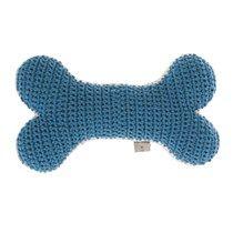 Crochet Bone Dog Toy Teal/Powder