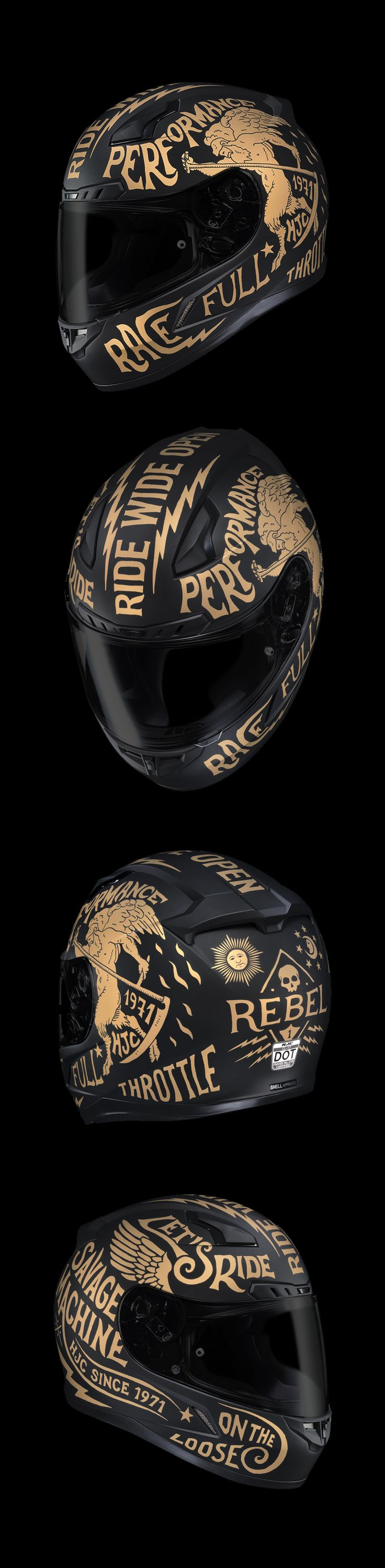 HJC CL-17 Rebel Helmet / BMD Design