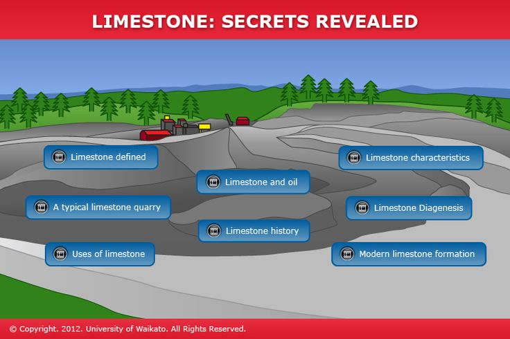 In this interactive, learn about limestone's origins, formation, properties and uses with Professor Cam Nelson.