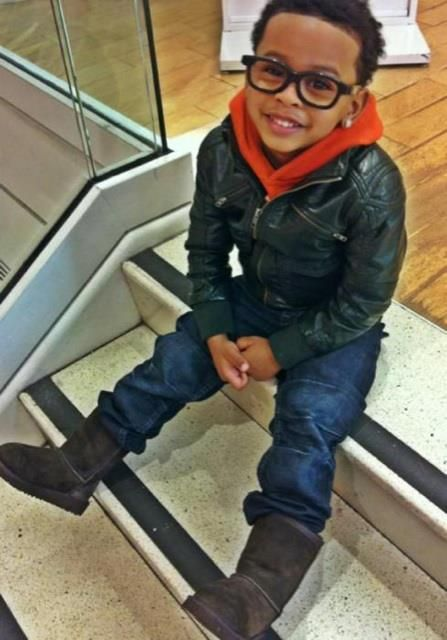 Lil Boys with Swag | This little leather jacket is adorable!