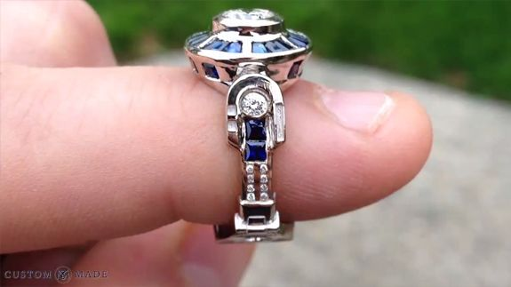 man proposes with incredible r2d2 engagement ring video engagement rings engagement and rings - R2d2 Wedding Ring