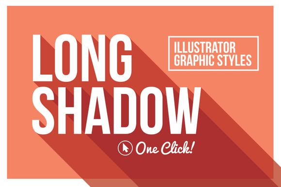 Long Shadow Graphic Styles by designdell on @creativemarket