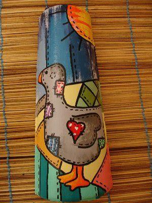 Cor e Vontade: Telhas pintadas
