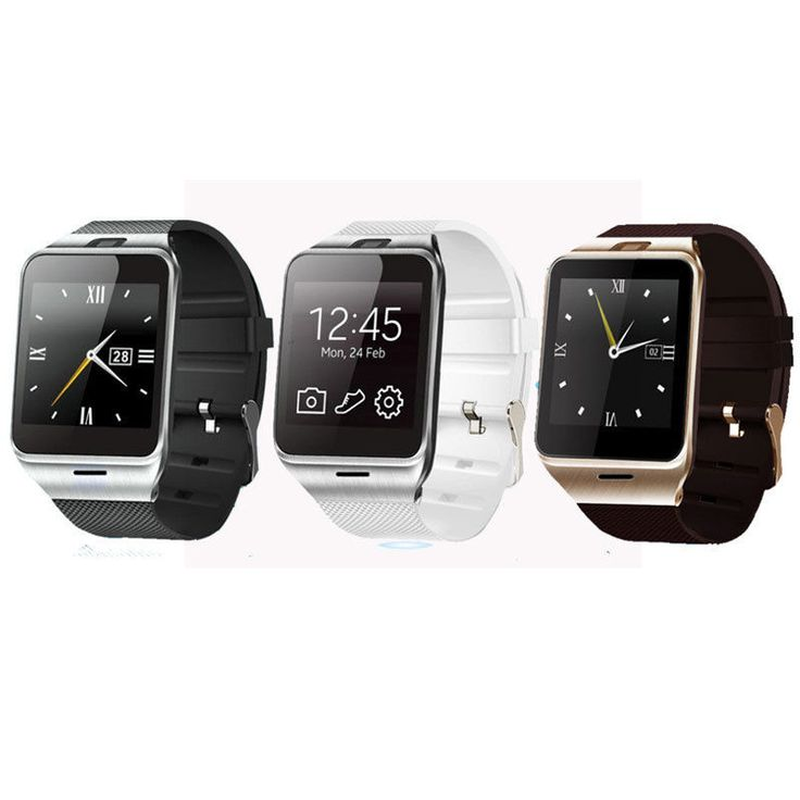 Black GV18 Smart Bluetooth Watch with NFC SIM card Smartwatch for iPhone Android #UnbrandedGeneric