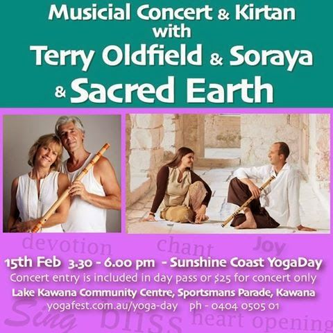 Sacred Earth and Terry Oldfield & Soraya's event, 15th Feb 2014
