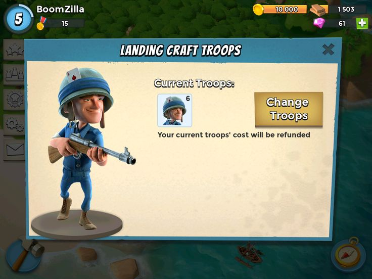 Boom Beach by Supercell - Troop Selection