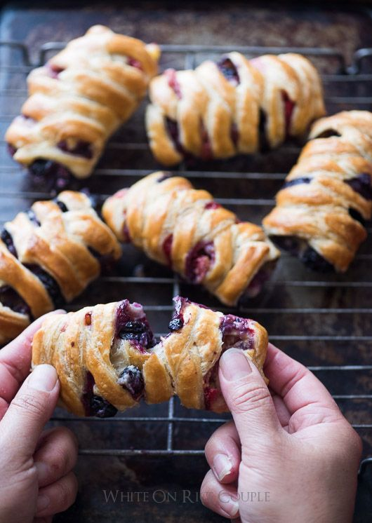 Did this with blueberries - next time add way more berries and add a lemon zest