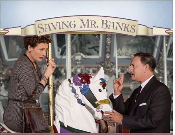 Saving Mr. Banks - the story of the author who wrote Mary Poppins. Tom Hanks & Emma Thompson. Fab flick.