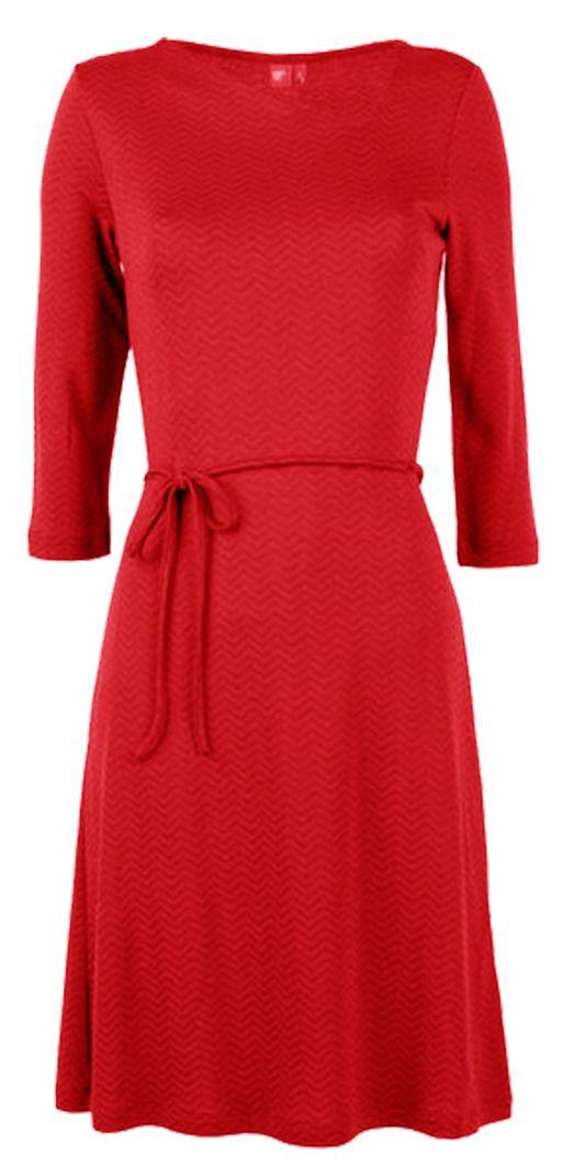Wafel jurk van Who's That Girl. Nu bij Solvejg Webshop.