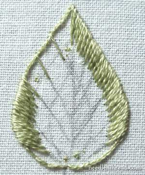 Long & Short Stitch shading in hand embroidery on needlenthread.com
