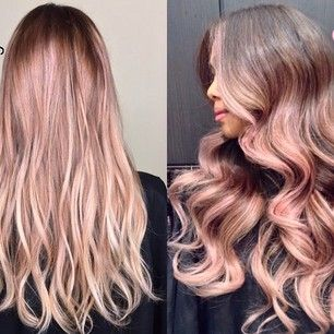It totally works in an ombre effect on darker locks. | 12 Reasons Rose Gold Is The Most Magical Shade To Dye Your Hair