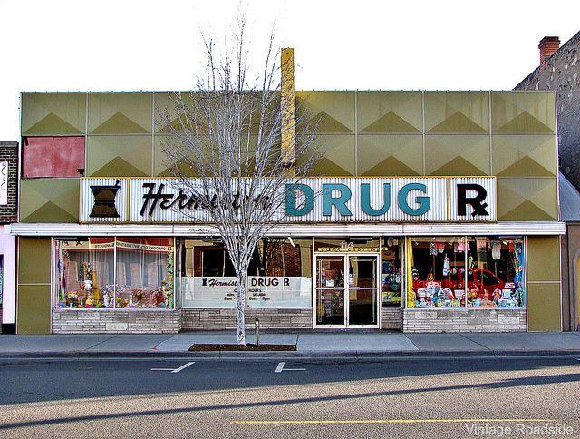 Mom & Pop drug store in downtown Hermiston, Oregon.
