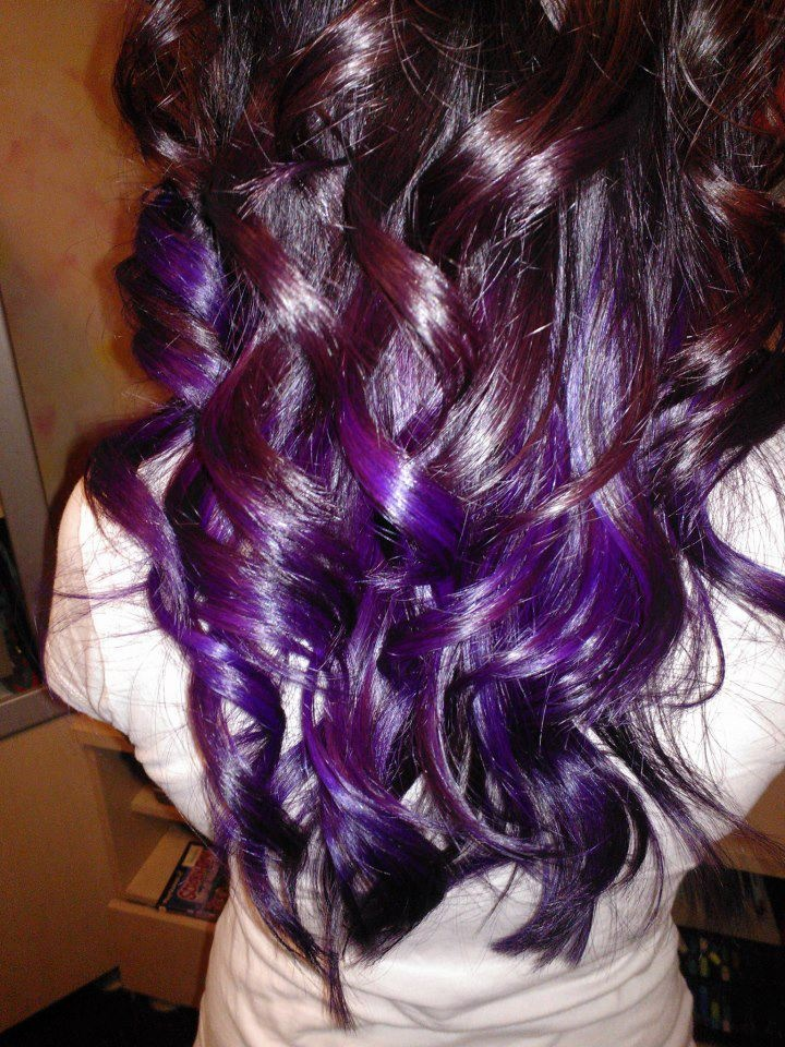 purple ombre hair my friend at bella luna salon spa. Black Bedroom Furniture Sets. Home Design Ideas