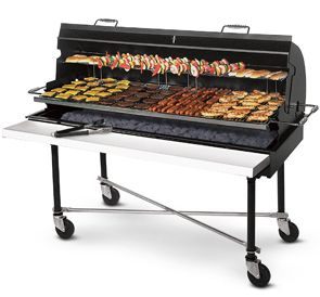 Super Porta Grill 174 Commercial Barbecue Grill Fire With