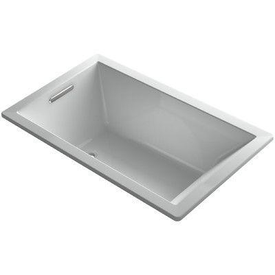 """Kohler Underscore Vibracoustic 60"""" x 36"""" Soaking Bathtub Finish:"""