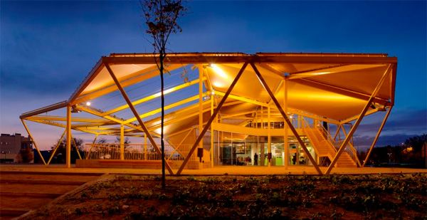 The sun really rises in this eco-friendly kindergarten in Madrid, Spain designed by Spanish architects Ecosistema Urbano