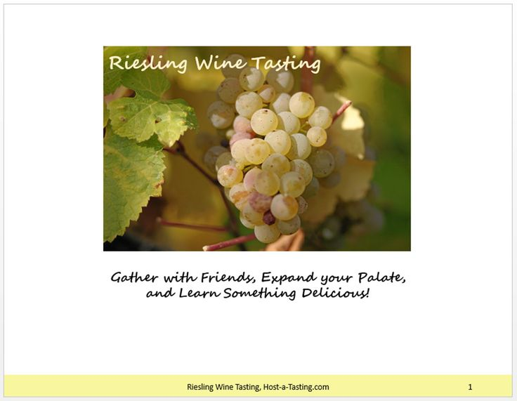 Riesling White Wine Tasting Party Package by HostATasting on Etsy