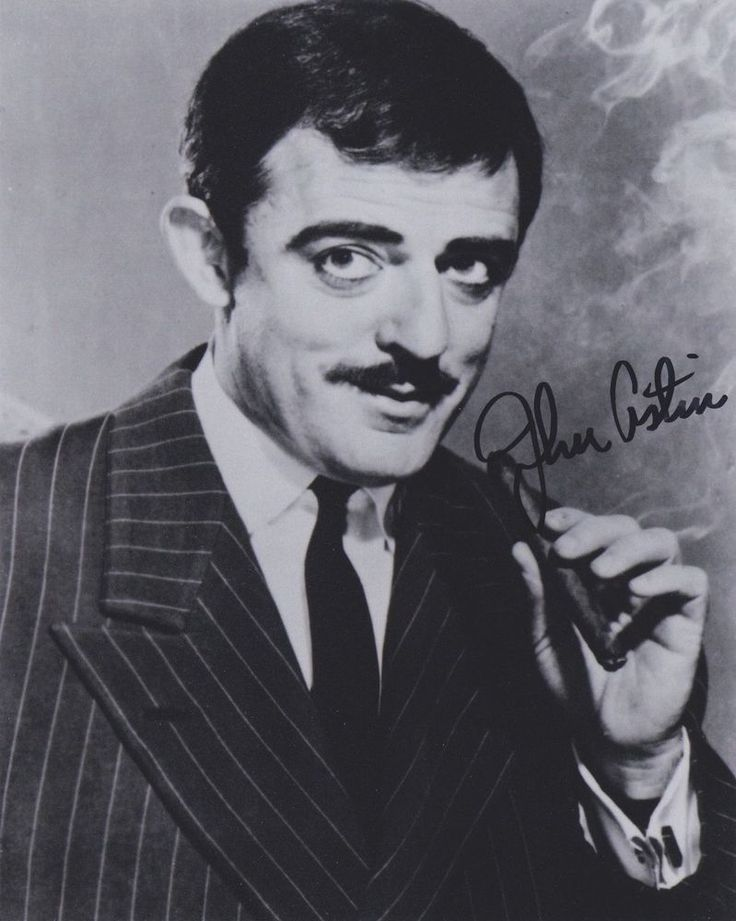 "Signed Original B&W Photo of John Astin of ""The Addams Family"""