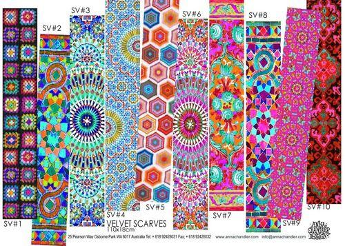 Some velvet scarves I designed last week for winter 2014. Anna Chandler