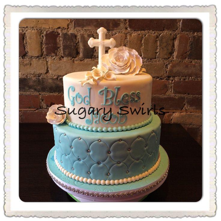 Baptism/christening cake created by Sugary Swirls @sugaryswirlsco