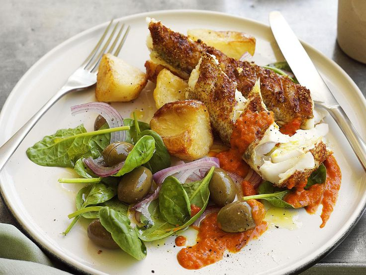 Paprika flathead with roasted capsicum sauce, fish recipe, brought to you by Australian Women's Weekly