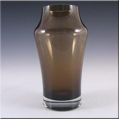 Riihimaki/Riihimaen Tamara Aladin Brown Glass Vase 1581
