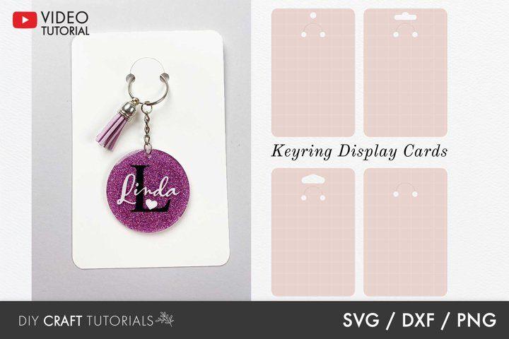 Keyring Display Card Svg Packaging Svg Key Ring Tag Svg 1148578 Illustrations Design Bundles In 2021 Keychain Display Keychain Design Display Cards